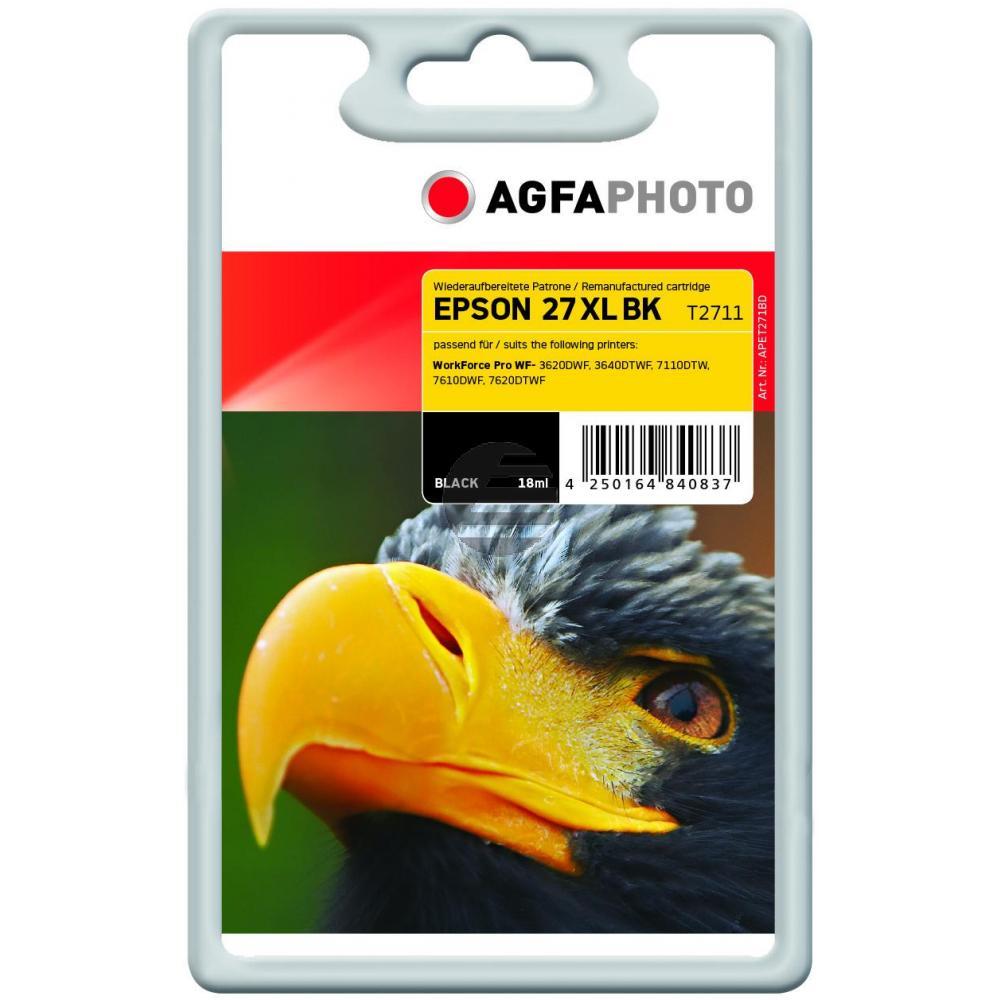 Agfaphoto Tintenpatrone schwarz (APET271BD)