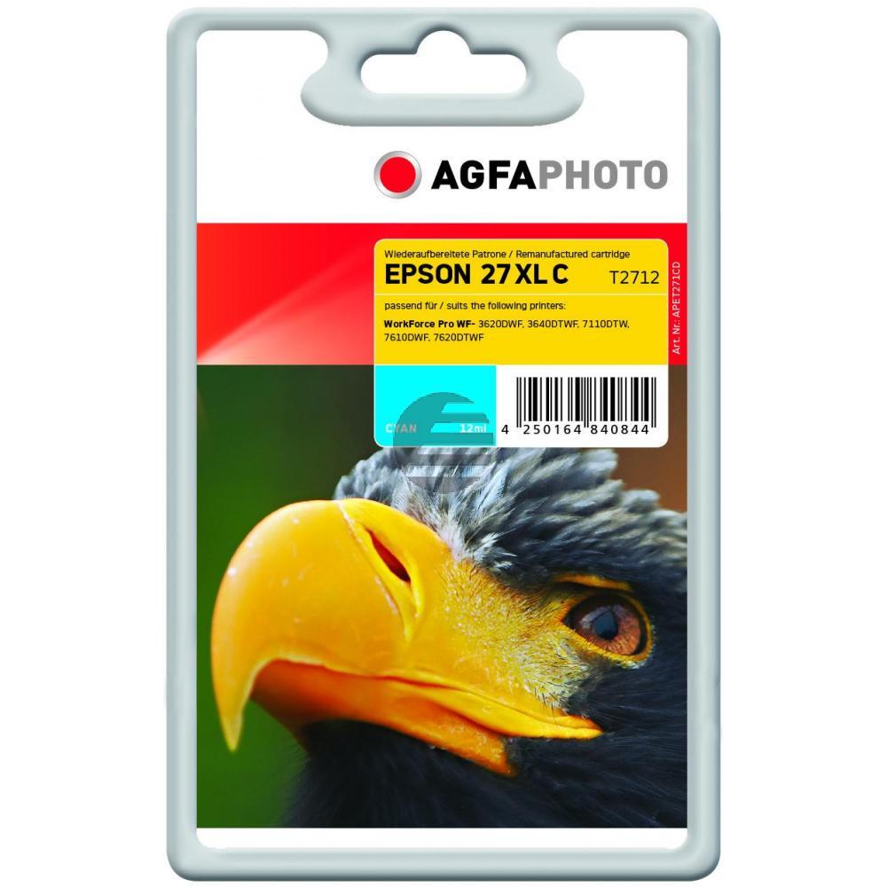Agfaphoto Tintenpatrone cyan HC (APET271CD)