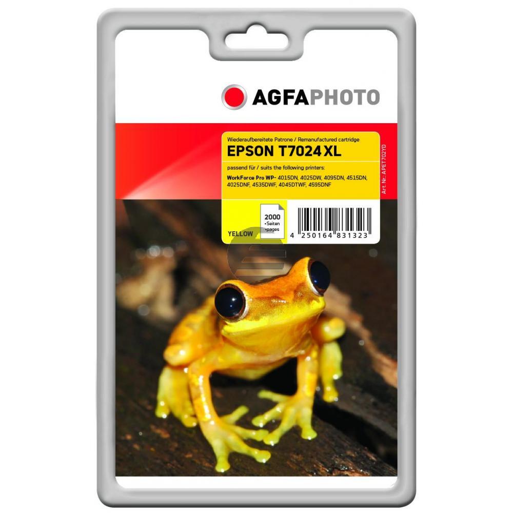 Agfaphoto Tintenpatrone gelb HC (APET702YD)