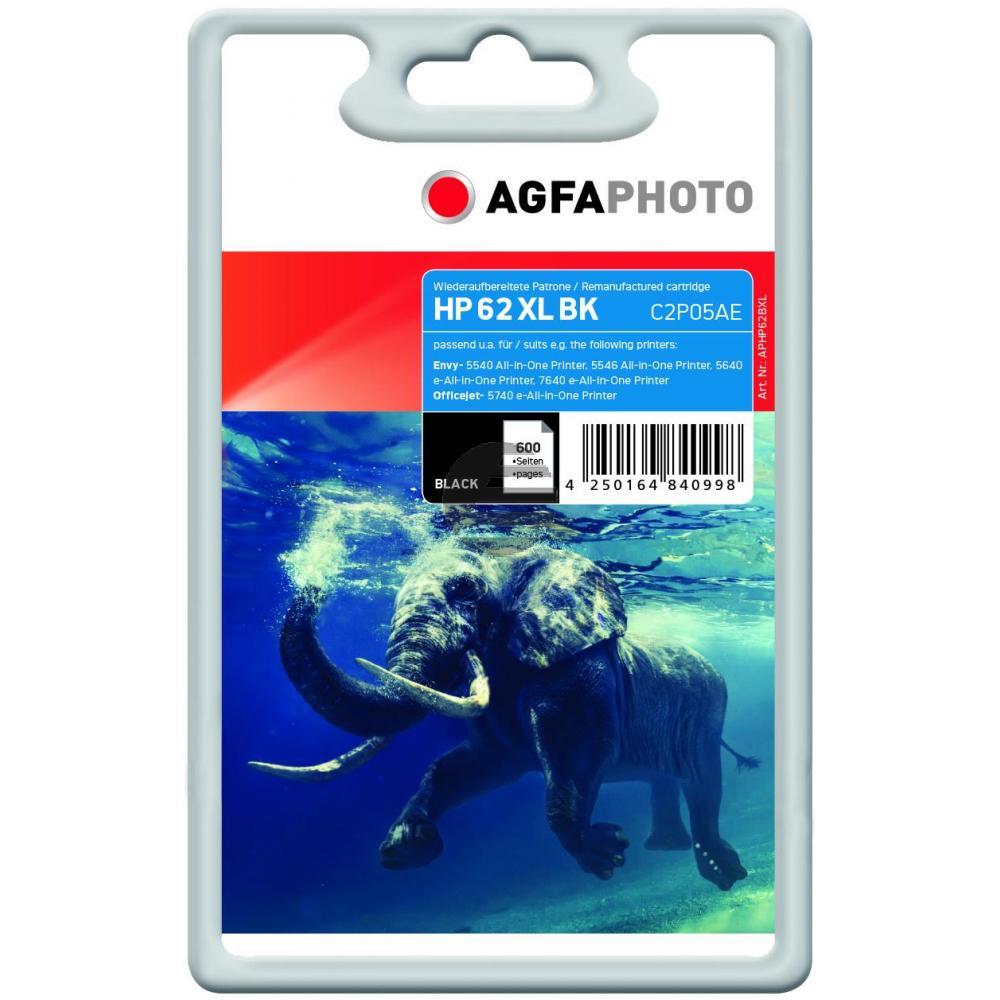 Agfaphoto Tintendruckkopf schwarz HC (APHP62BXL) ersetzt C2P05AE (62XL)
