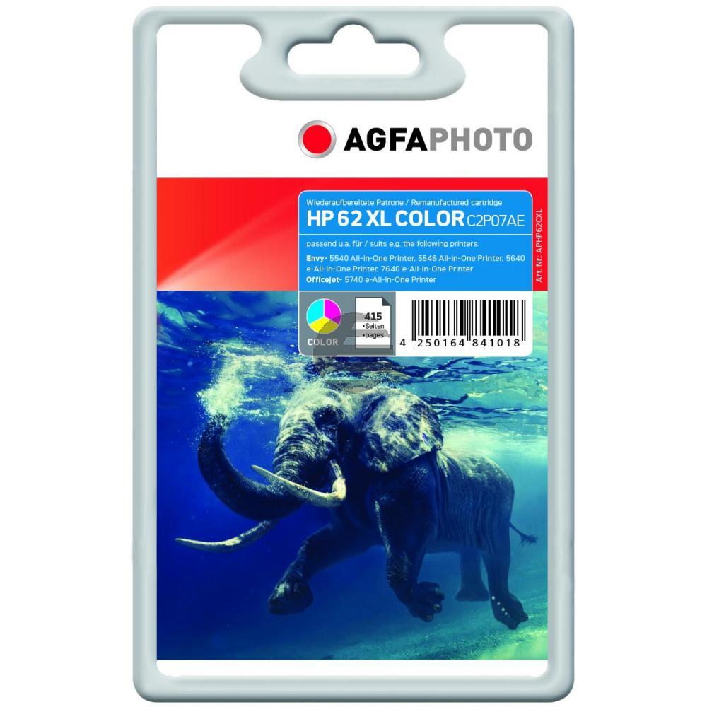 Agfaphoto Tintendruckkopf cyan/gelb/magenta (APHP62CXL) ersetzt C2P07AE (62XL)