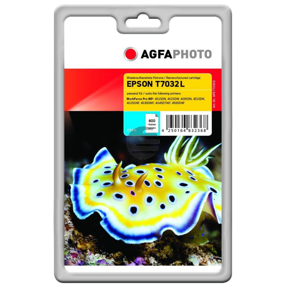 Agfaphoto Tintenpatrone cyan (APET703CD)