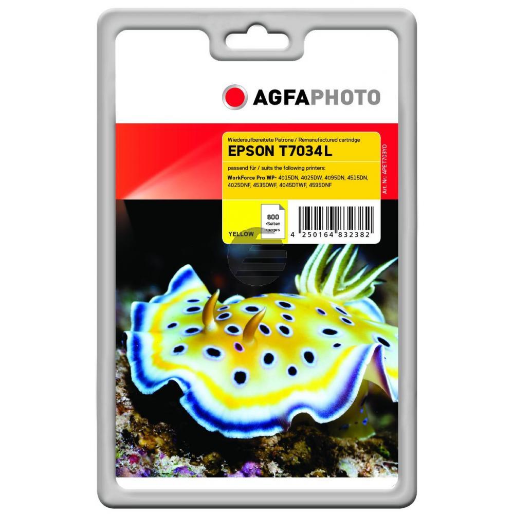 Agfaphoto Tintenpatrone gelb (APET703YD)
