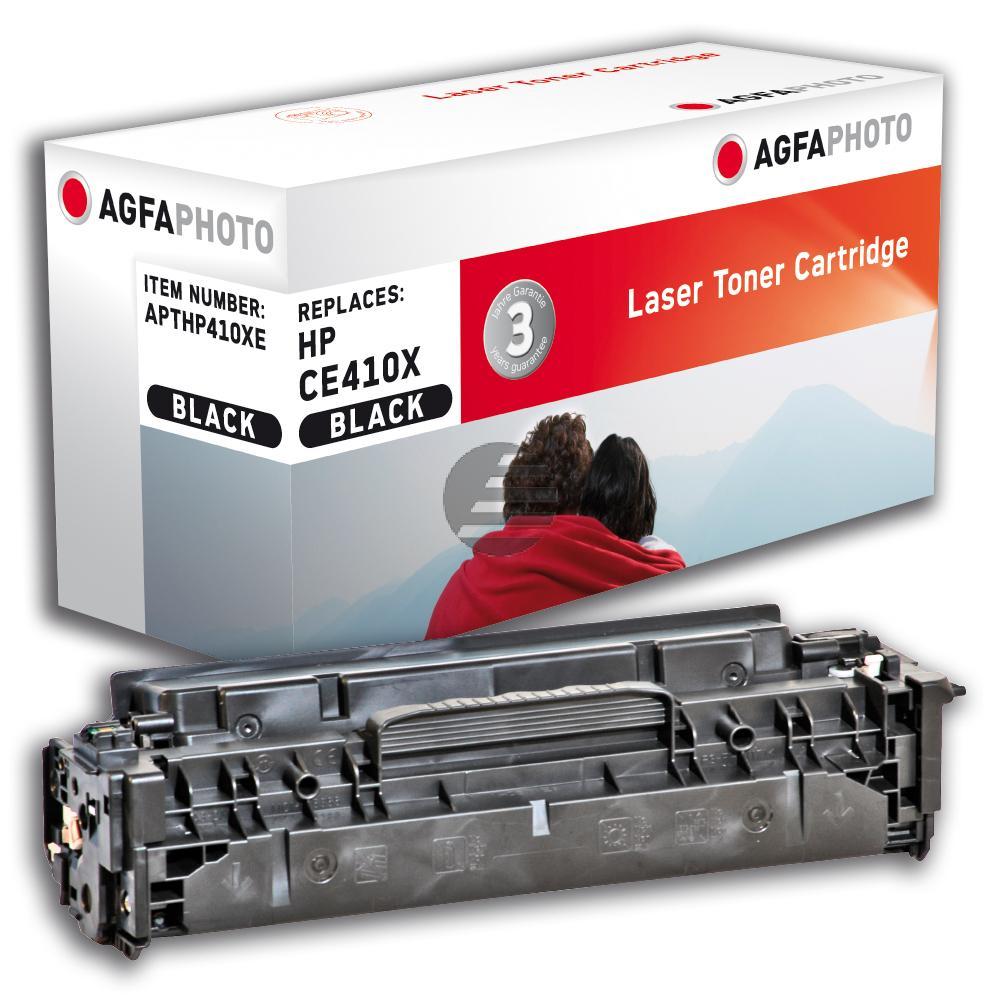 Agfaphoto Toner-Kartusche 2 x schwarz 2-Pack HC (APTHP410XDUOE) ersetzt CE410XD / 305XD