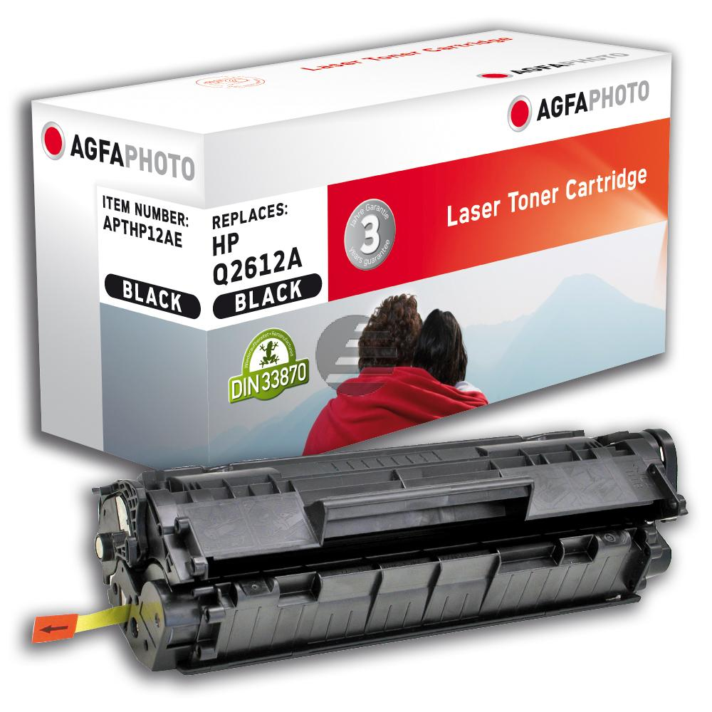 Agfaphoto Toner-Kartusche 2x schwarz 2-er Pack (APTHP12ADUOE)