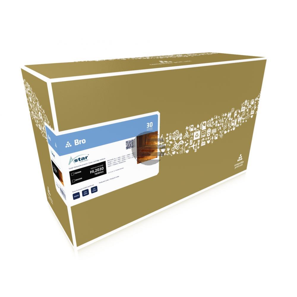 Astar Fotoleitertrommel Toner-Kit schwarz (AS52001) ersetzt TN-2000 / DR-2000