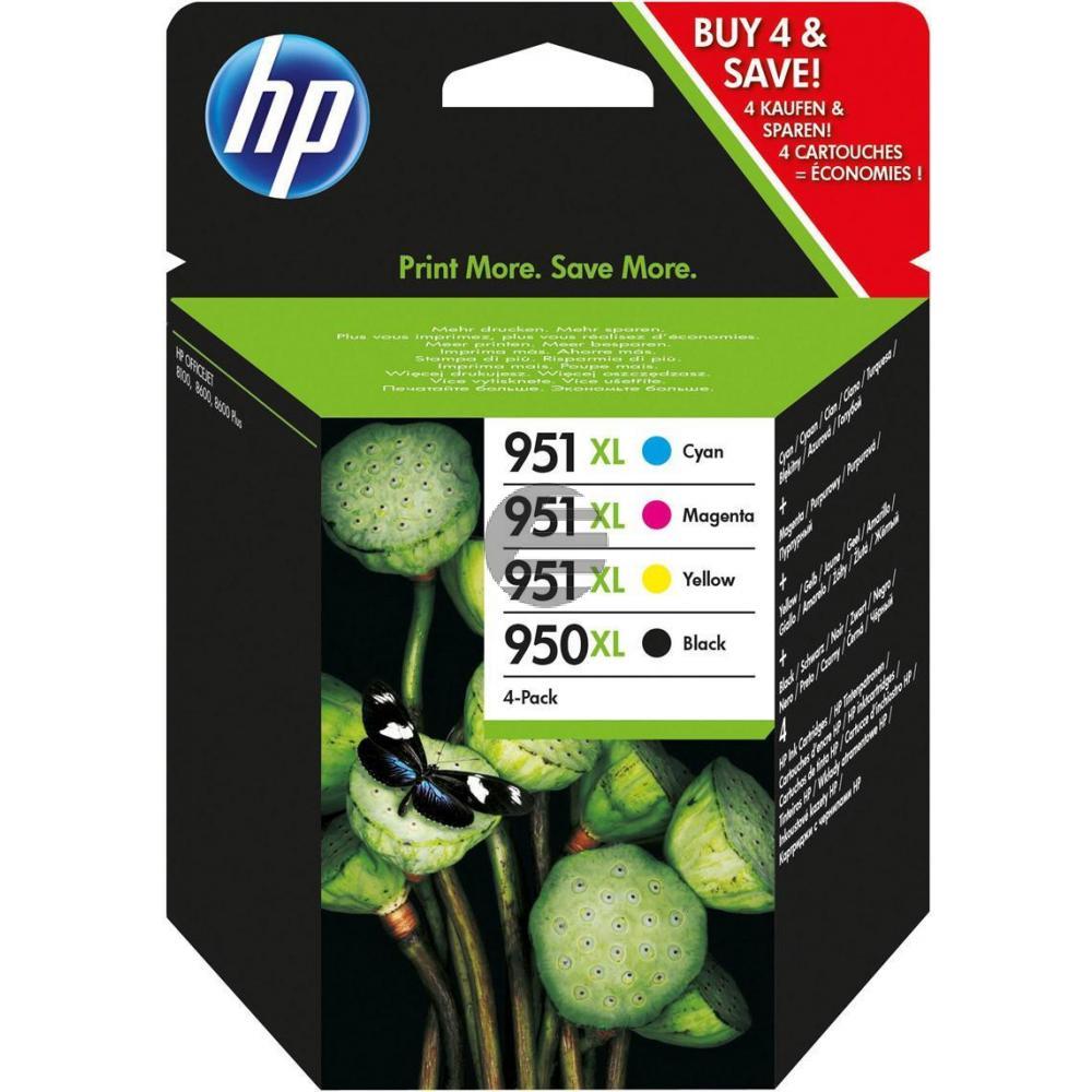 HP Tinte gelb Cyan Magenta schwarz HC (C2P43AE#301, 950XL 3 x 951XL)