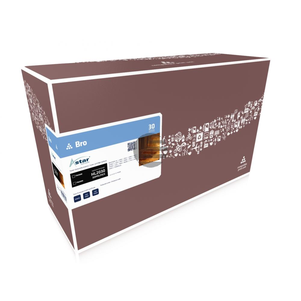 Astar Toner-Kit 2x schwarz (AS52005) ersetzt TN-2000