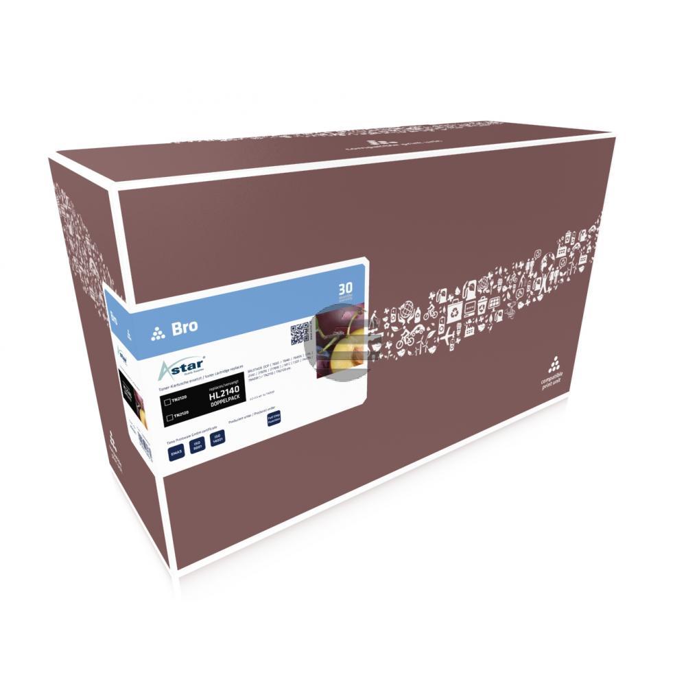 Astar Toner-Kit 2x schwarz HC (AS52007)