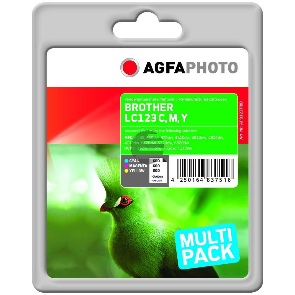 Agfaphoto Tinte gelb Cyan Magenta (APB123TRID)