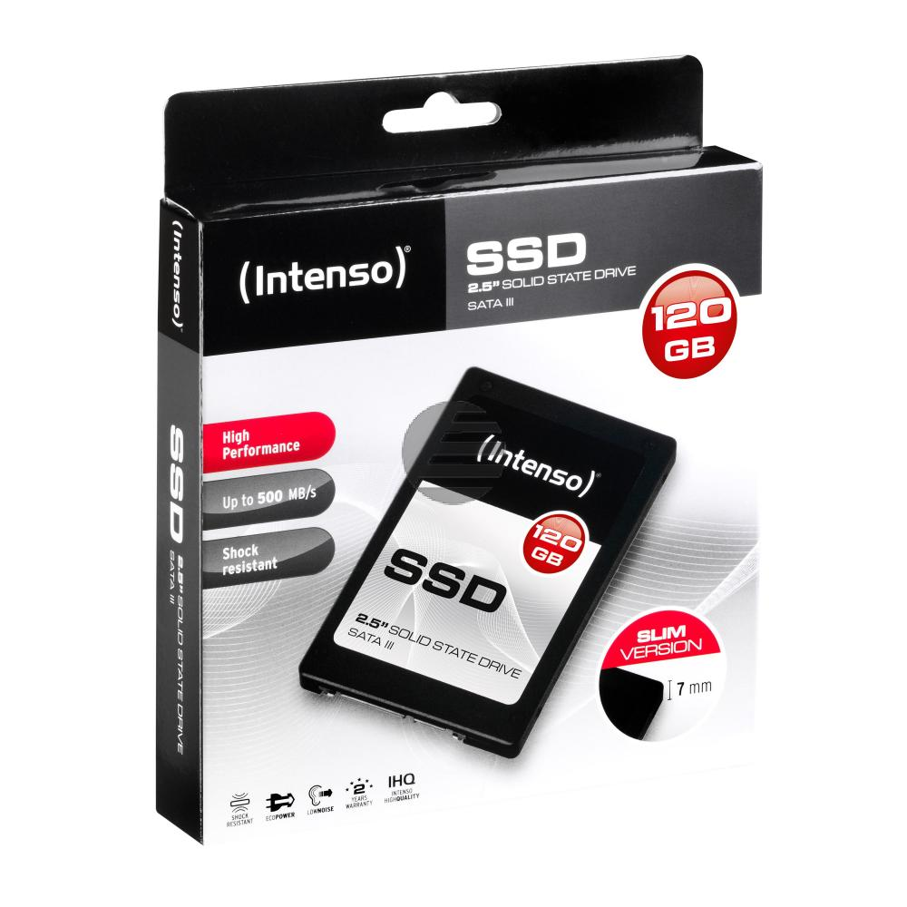 INTENSO 2.5 SSD FESTPLATTE INTERN 120GB 3813430 SATA III HIGH