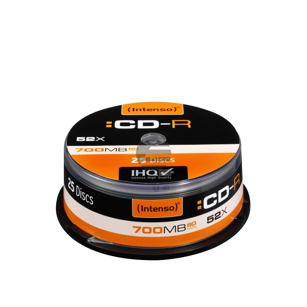INTENSO CDR80 700MB 52x (25) CB 1001124 Cake Box