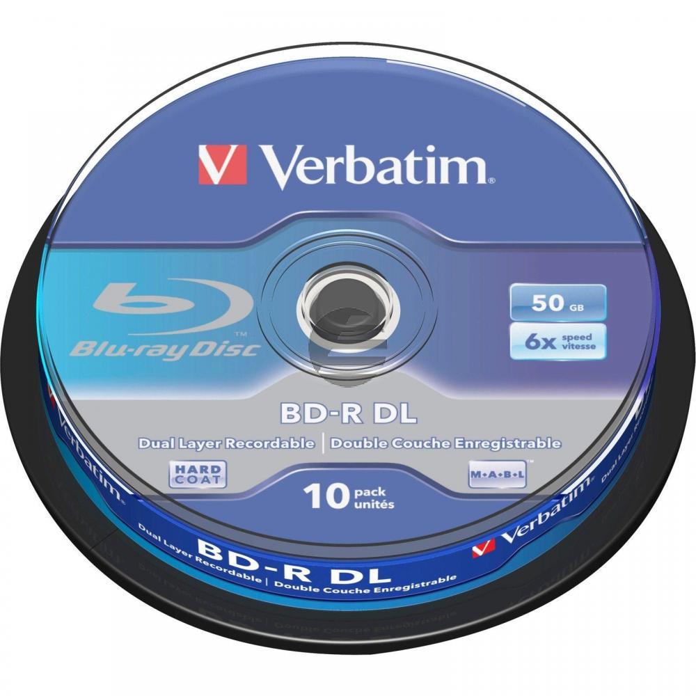 VERBATIM BD-R 50GB 6x (10) SP 43746 Spindel Dual Layer