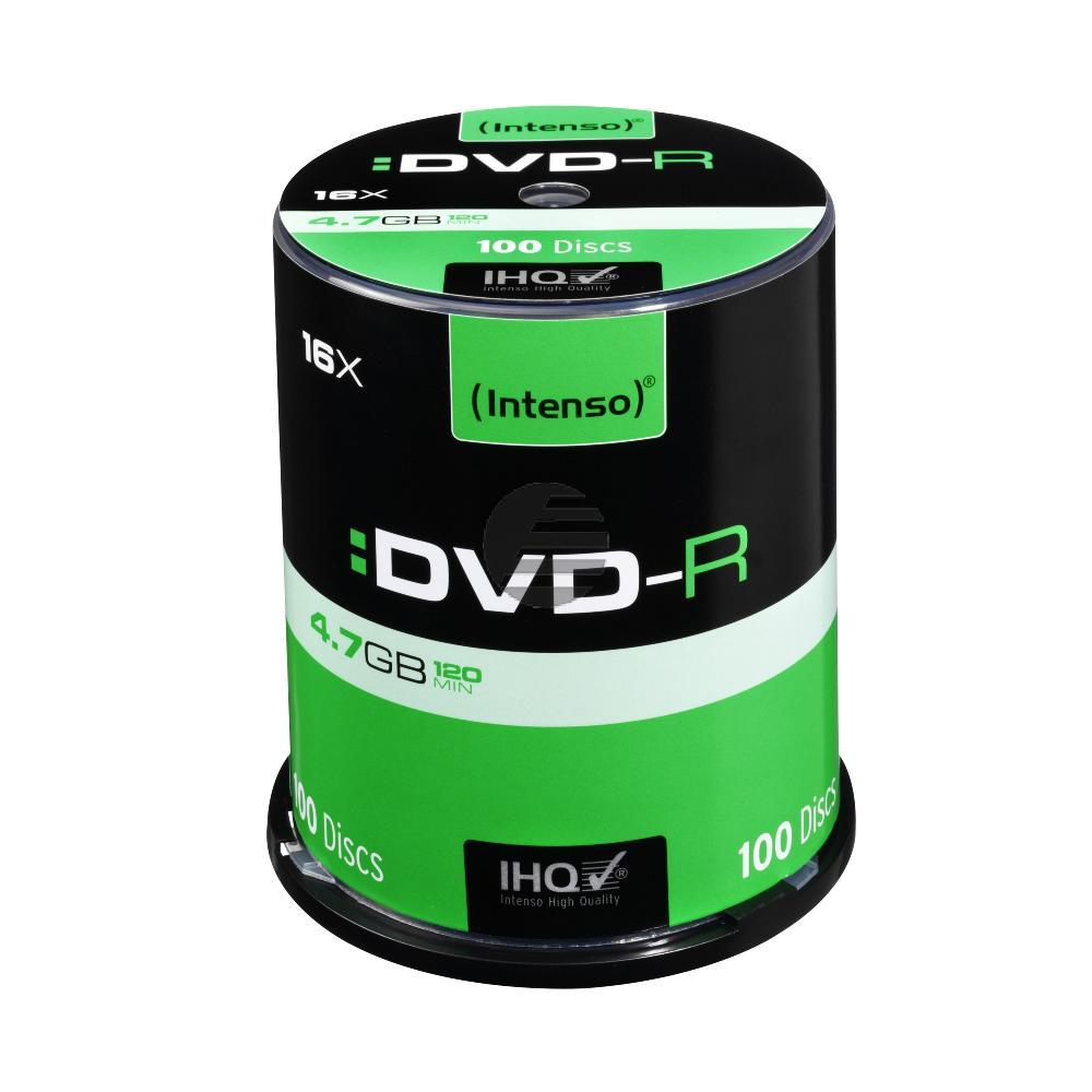 INTENSO DVD-R 4.7GB 16x (100) CB 4101156 Cake Box