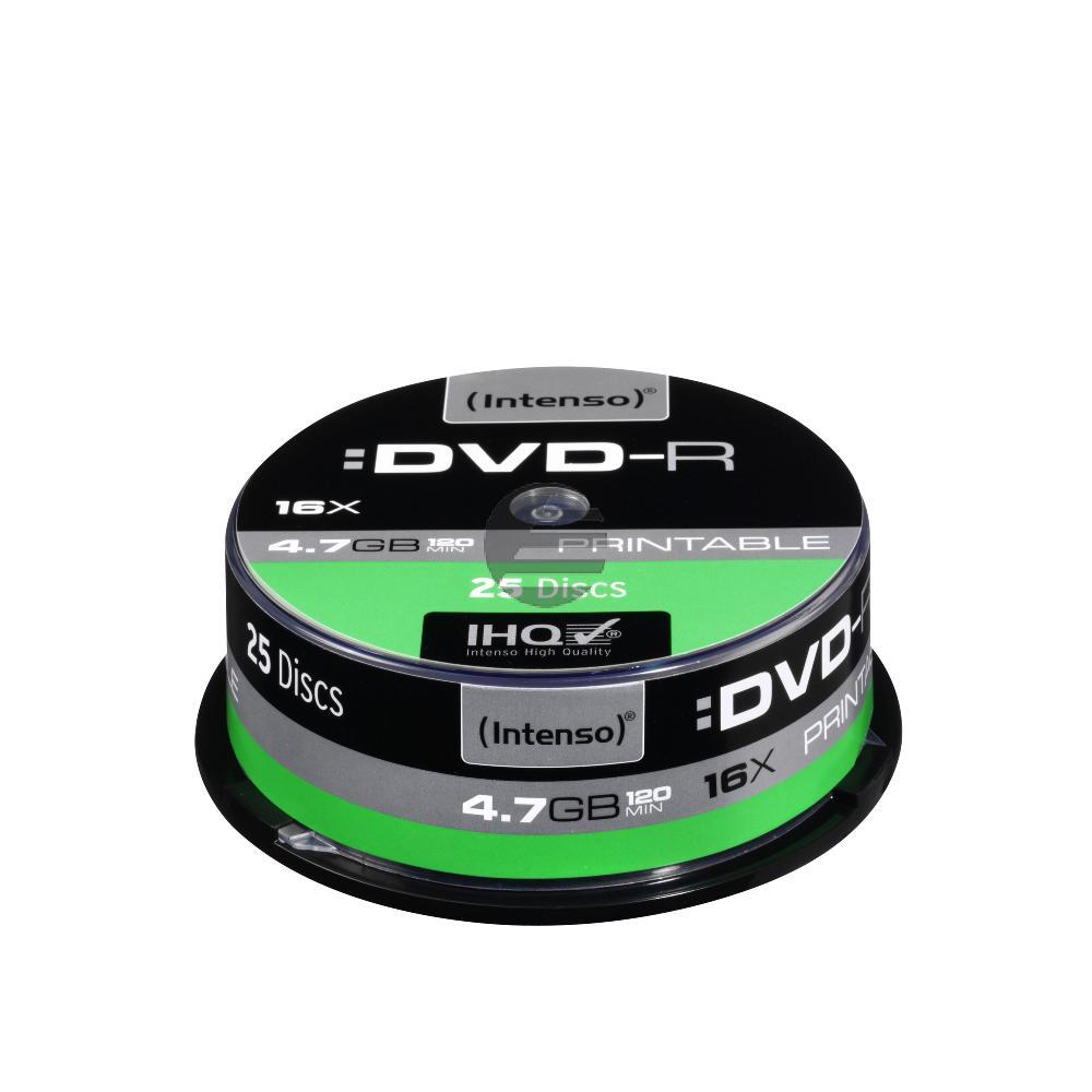 INTENSO DVD-R 4.7GB 16x (25) CB 4801154 Cake Box bedruckbar