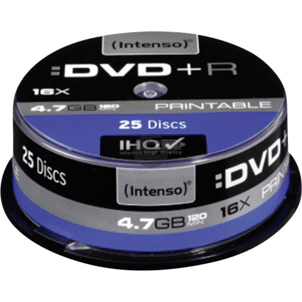 INTENSO DVD+R 4.7GB 16x (25) CB 4811154 Cake Box bedruckbar