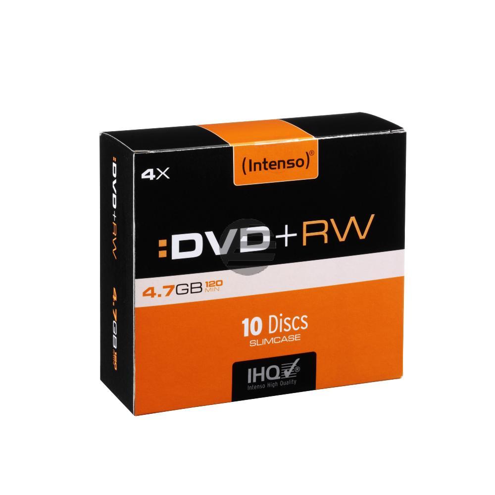 INTENSO DVD+RW 4.7GB 4x (10) SC 4211632 Slim Case wiederbeschreibbar