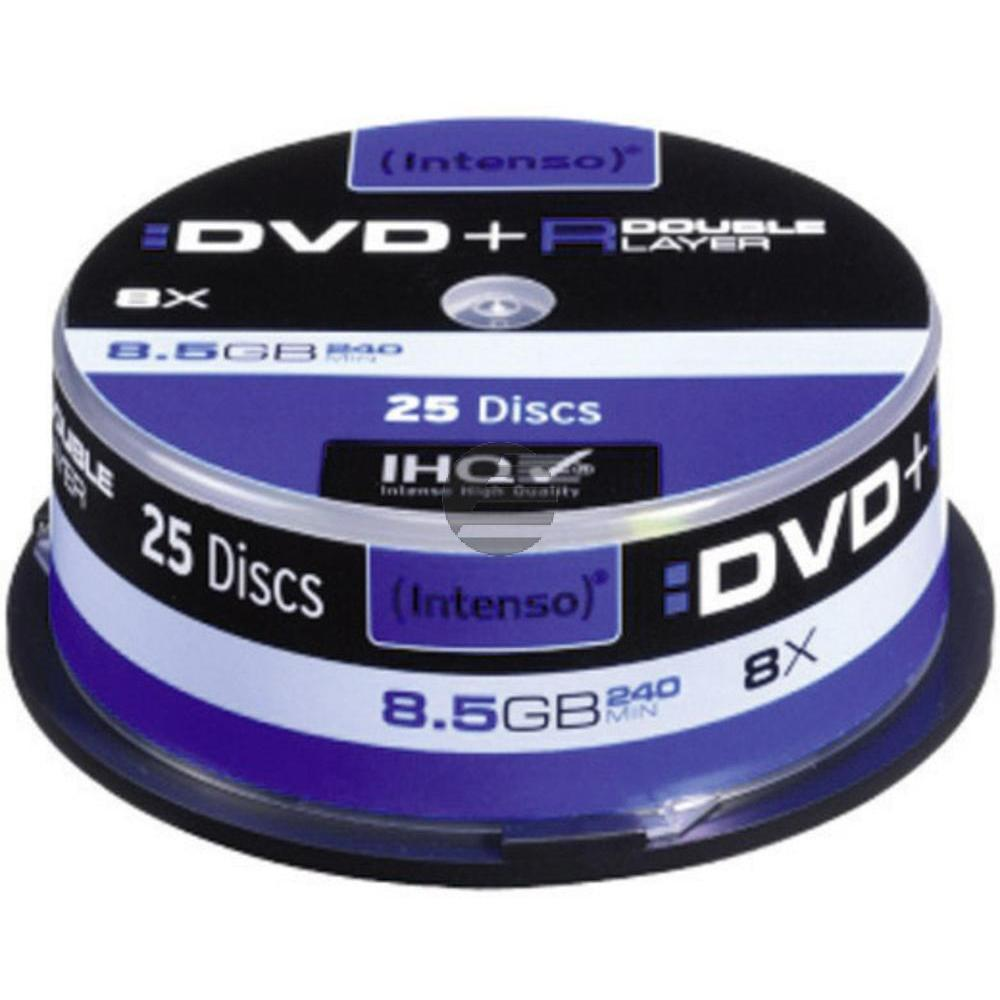 INTENSO DVD+R 8.5GB 8x (25) CB 4311144 Cake Box Double Layer