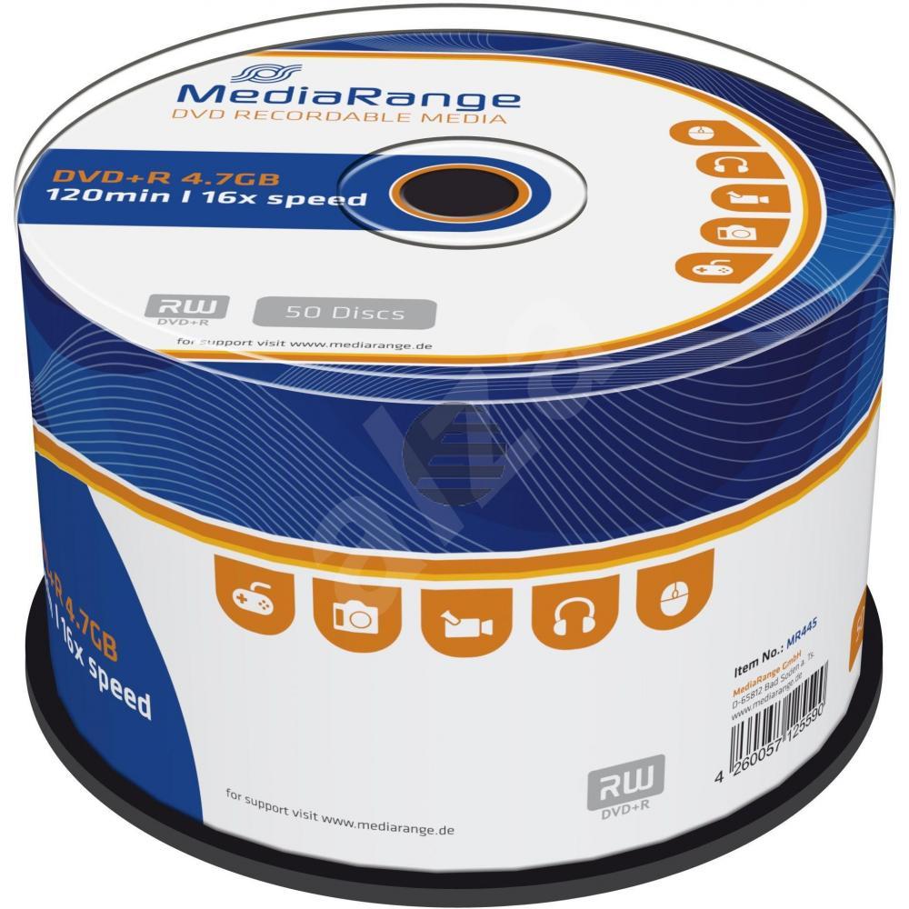 MEDIARANGE DVD+R 4.7GB 16x (50) CB MR445 Cake Box