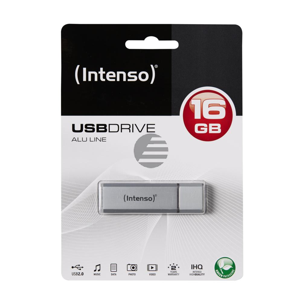 INTENSO USB STICK 2.0 16GB SILBER 3521472 Alu Line
