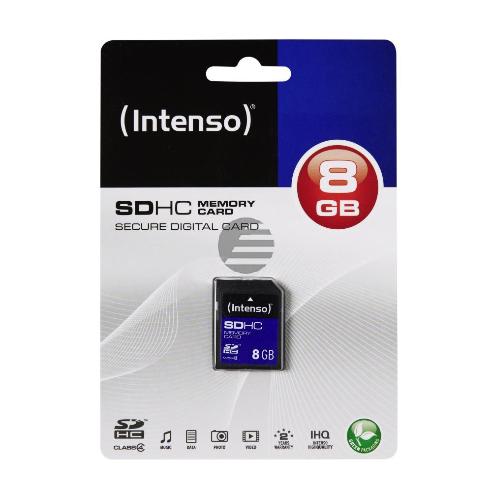 INTENSO SD SPEICHERKARTE 8GB 3401460 Klasse 4