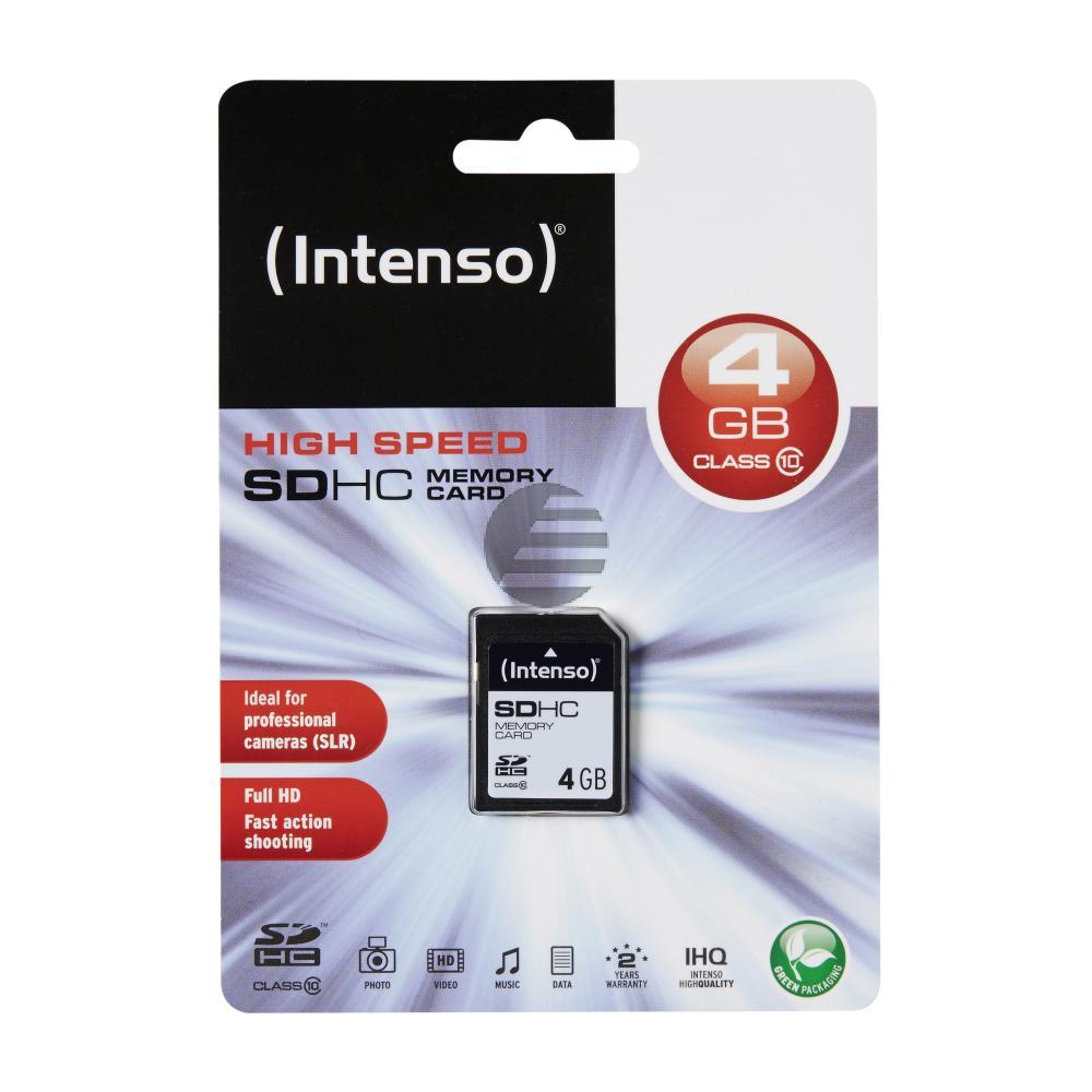 INTENSO SD SPEICHERKARTE 4GB 3411450 Klasse 10