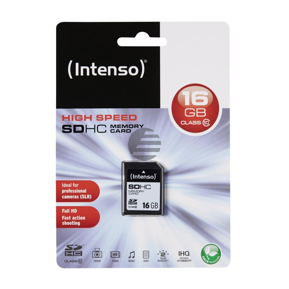 INTENSO SD SPEICHERKARTE 16GB 3411470 Klasse 10