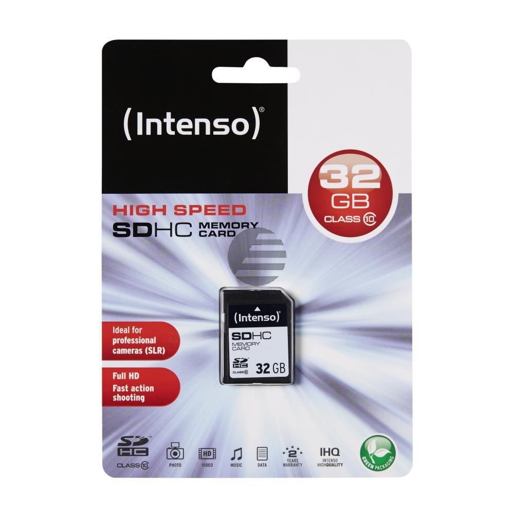 INTENSO SDHC SPEICHERKARTE 32GB 3411480 Klasse 10
