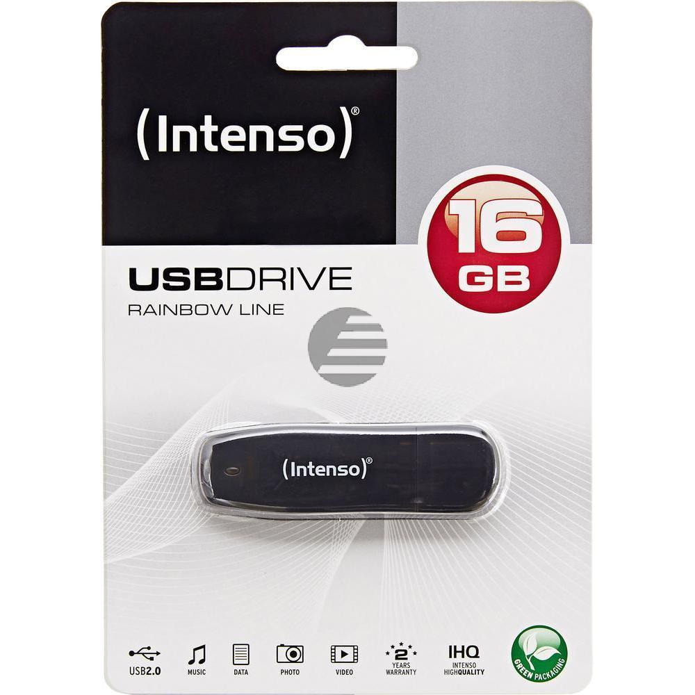 INTENSO USB STICK 2.0 16GB SCHWARZ 3502470 Rainbow Line