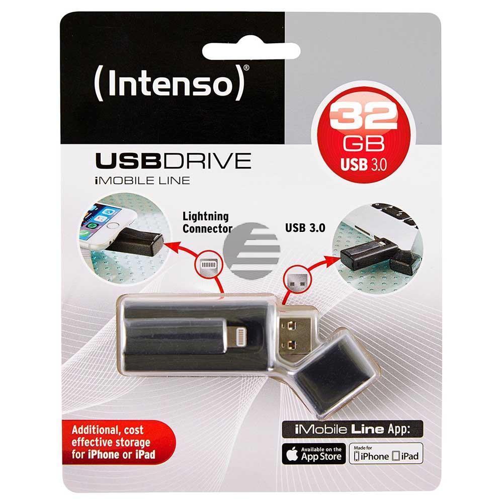 INTENSO USB STICK 3.0 32GB SCHWARZ 3535480 Imobile Line