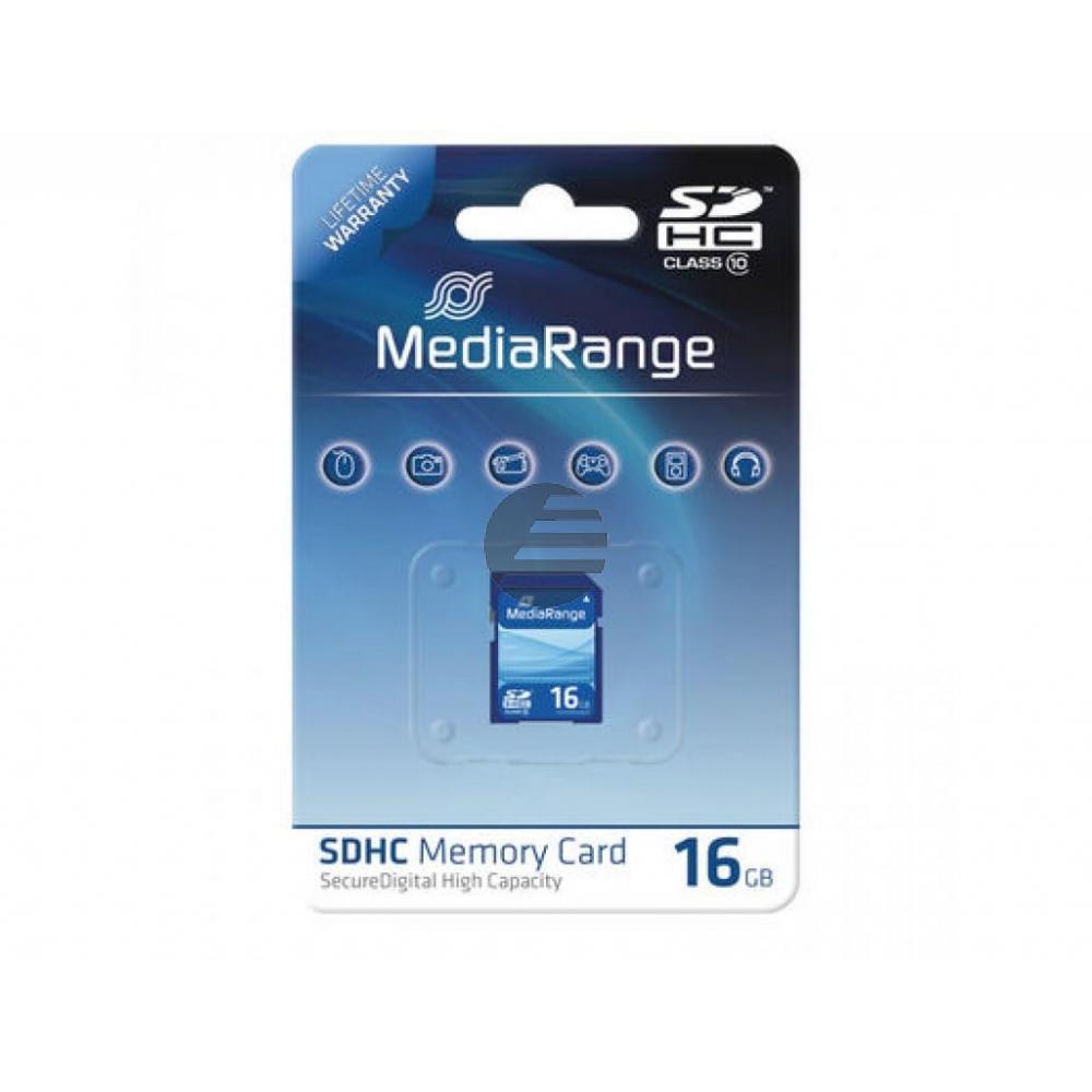 MEDIARANGE SDHC SPEICHERKARTE 16GB MR963 Klasse 10