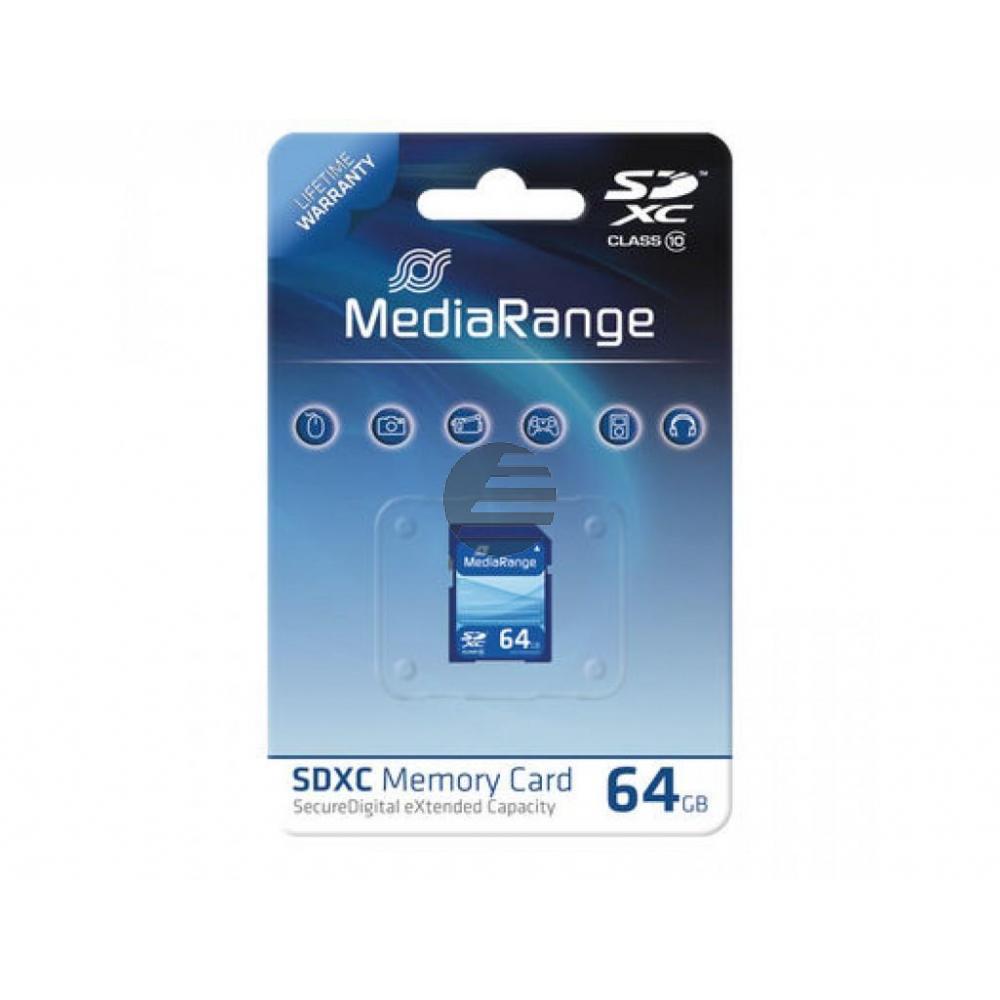 MEDIARANGE SDHC SPEICHERKARTE 64GB MR965 Klasse 10