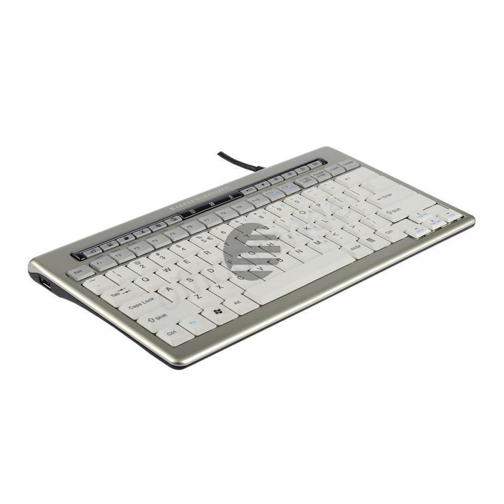 BNES840DUK BAKKER TASTATUR UK S-board 840 Design USB silber-weiss