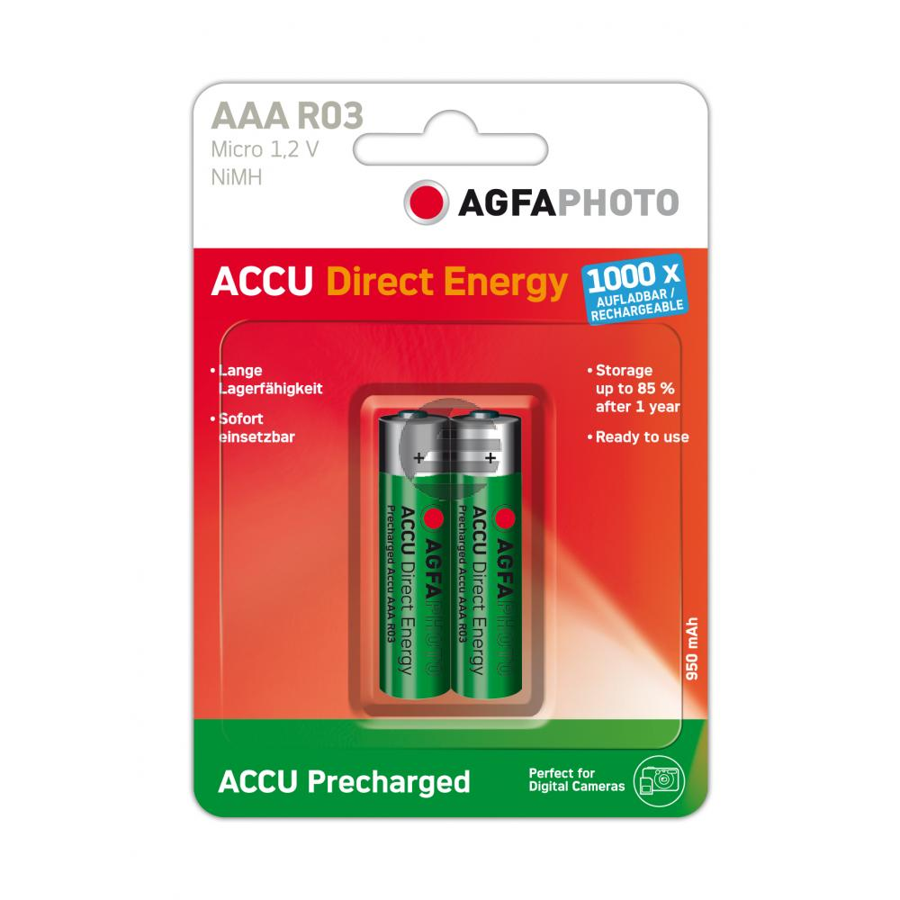 132-803944 AP MICRO BATTERIEN (2) Ready-to-Use Accu 950 mAh AAA