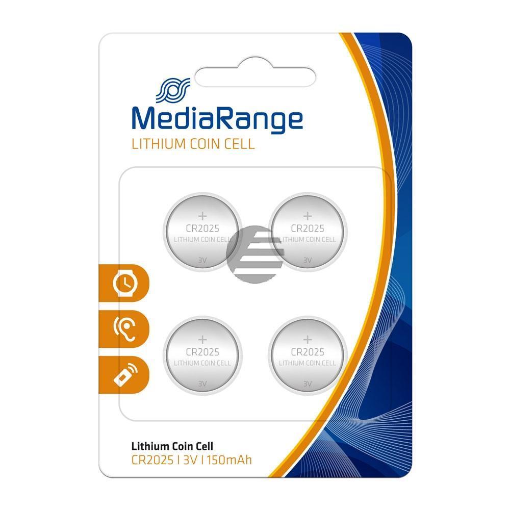 MEDIARANGE CR2025 BATTERIEN (4) 3V MRBAT131 Lithium Knopfzellen