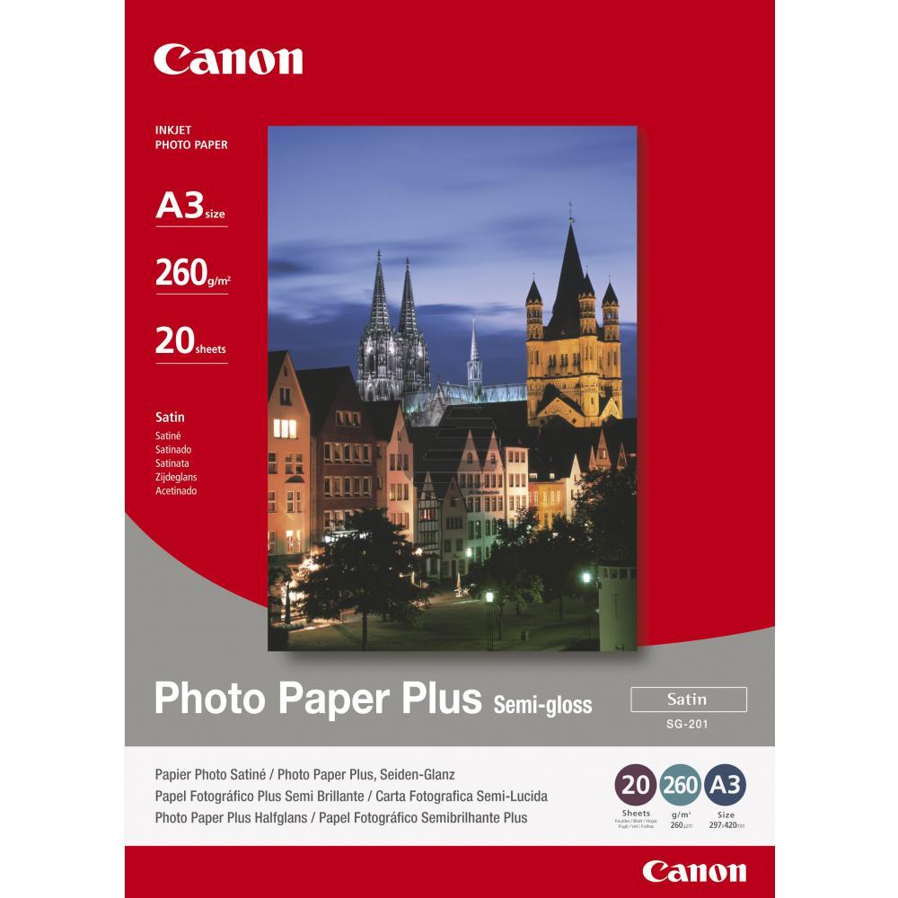 Canon Fotopapier glänzend 20 Blatt DIN A3 260 g/m² (1686B026, SG-201)