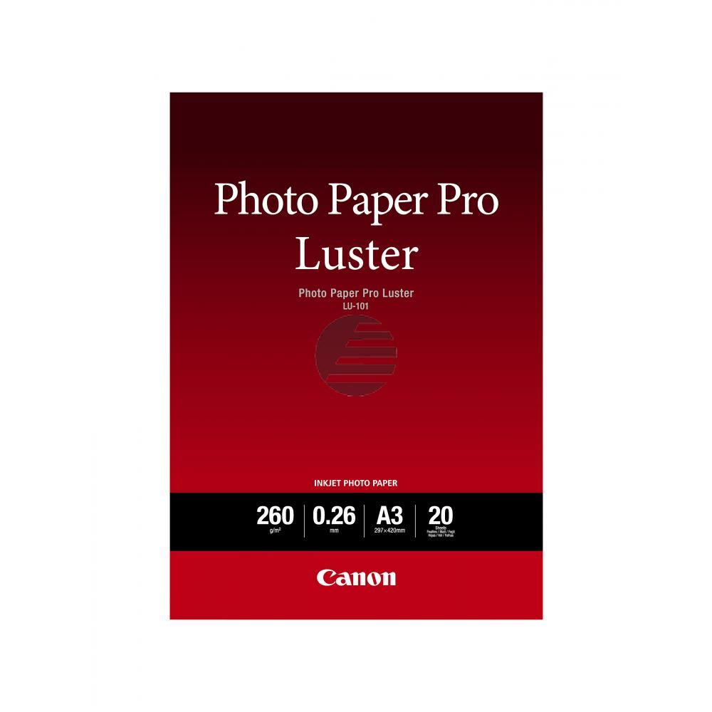 Canon Fotopapier 20 Blatt DIN A3 260 g/m² (6211B007)