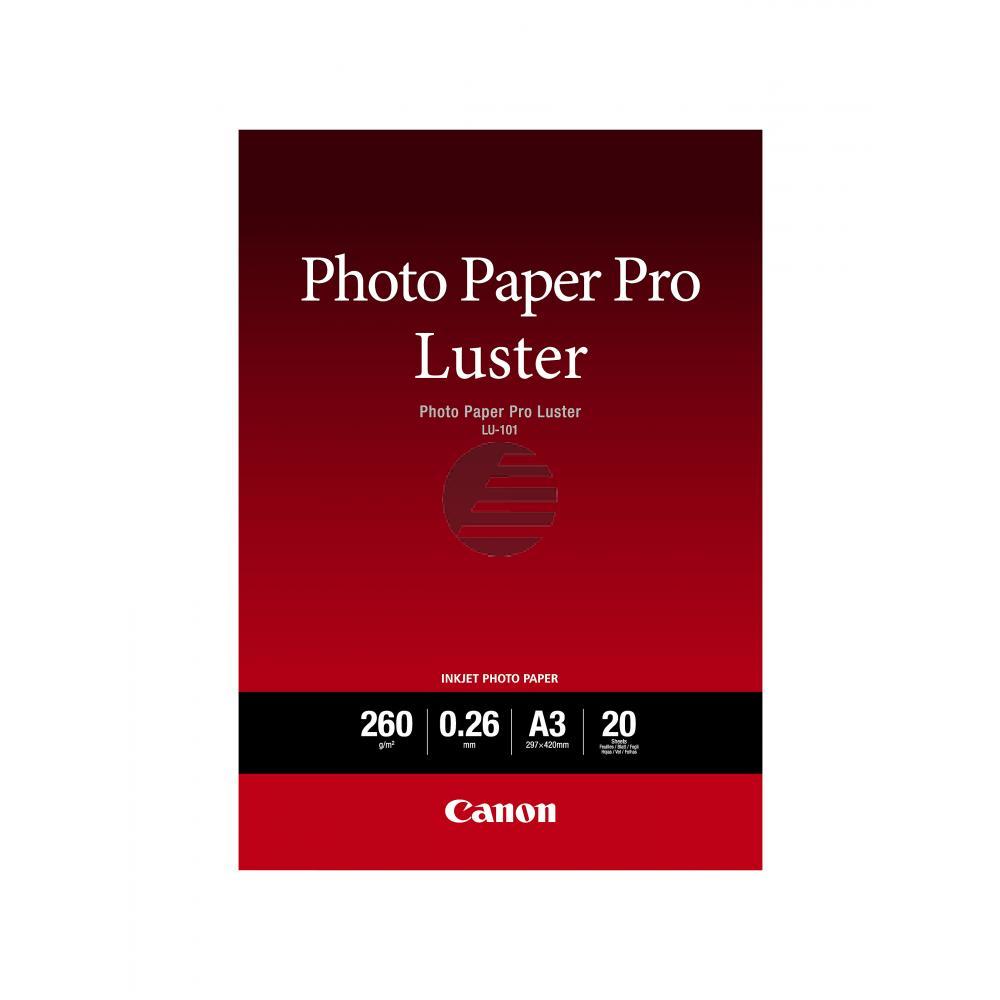 Canon Fotopapier 20 Blatt DIN A3 260 g/m² (6211B007)