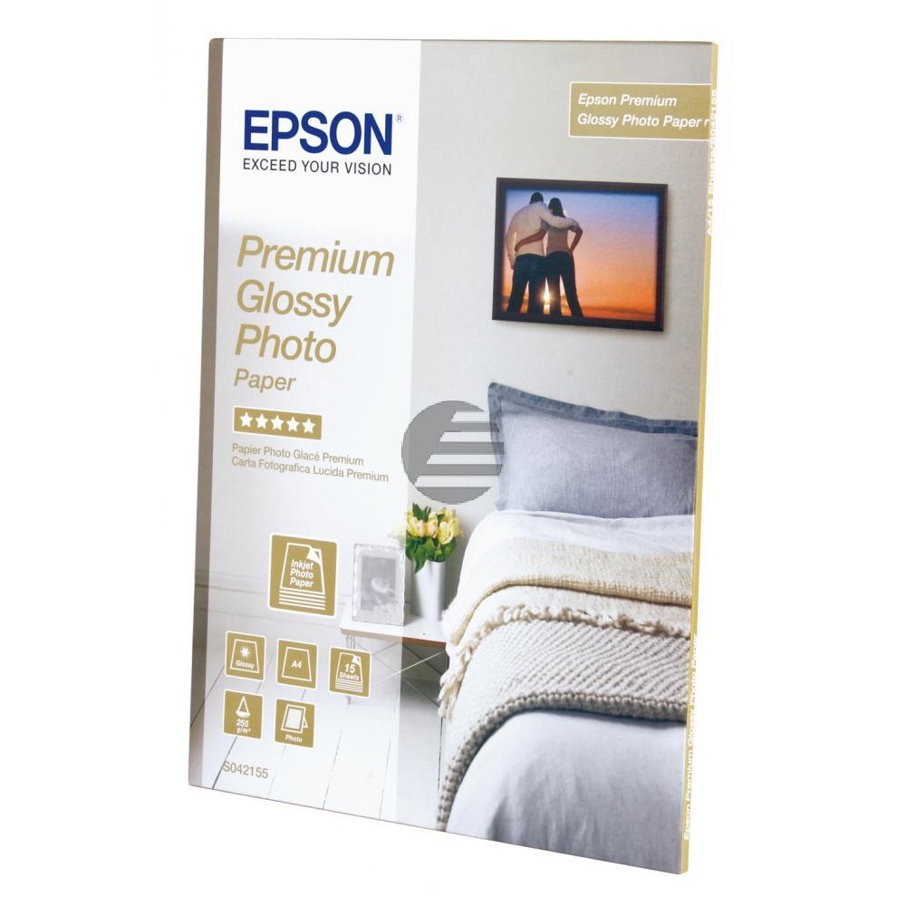Epson Fotopapier glänzend 15 Blatt DIN A4 255 g/m² (C13S042155)