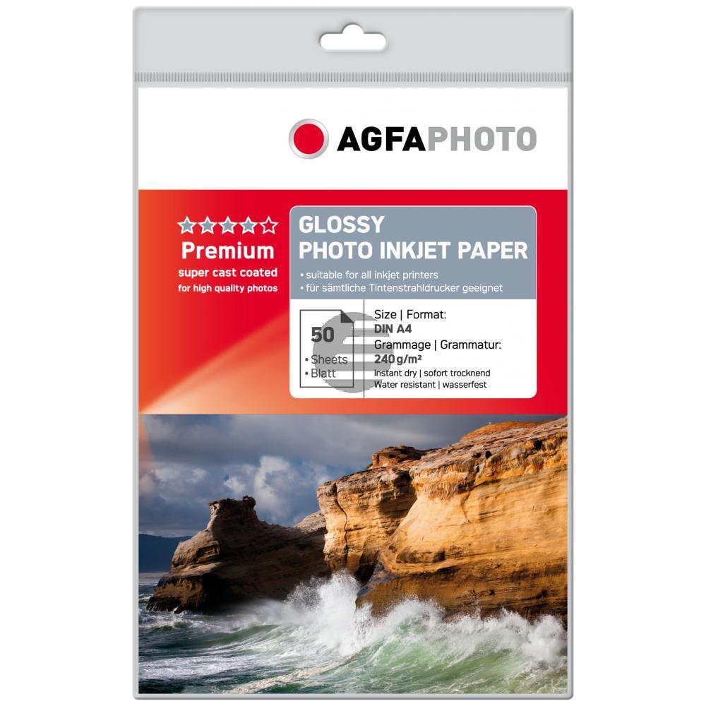Agfaphoto Inkjetpapier weiß 50 Blatt DIN A4 240 g/m² (AP24050A4)