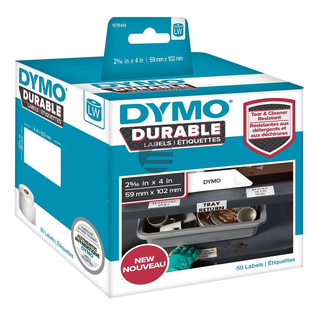 1976414 DYMO 59x102mm WEISS KUNSTSTOFF 1Rl/50Stk LW Adress-Etiketten permanent