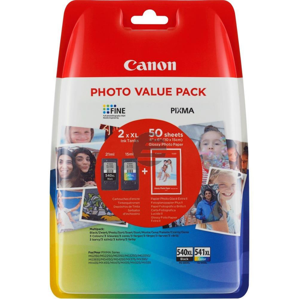 Canon Tintenpatrone Glossy Photo Paper 100x150mm cyan/gelb/magenta schwarz (5222B014, CL-541XL PG-540XL)