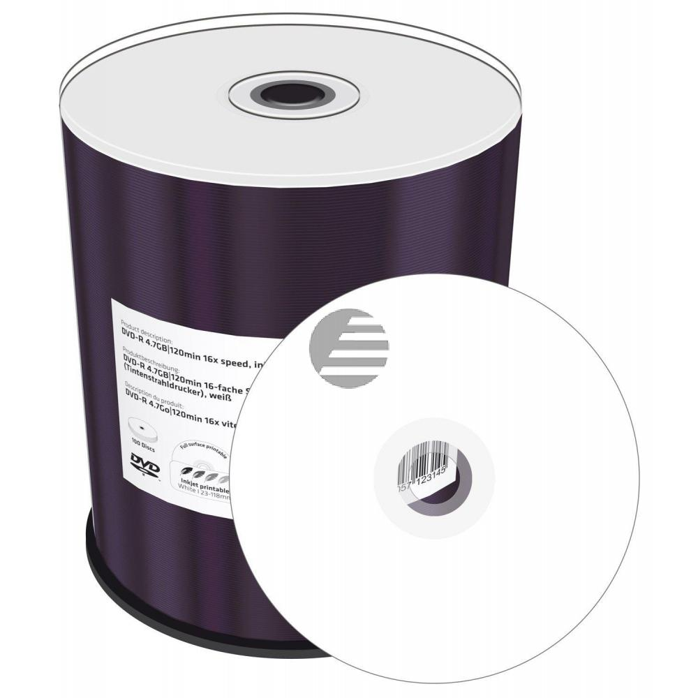 MEDIARANGE DVD-R 4.7GB 16x (100) CB MR413 Cake Box bedruckbar