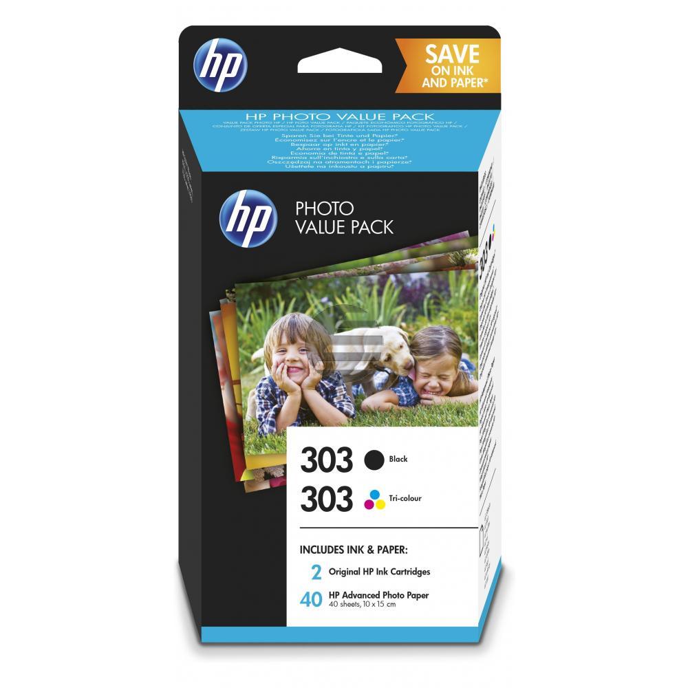 HP Tintendruckkopf Photo Paper 100x150mm cyan/gelb/magenta schwarz (Z4B62EE, 303)