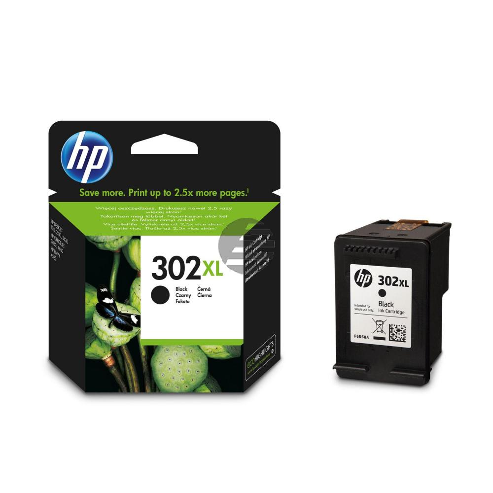 HP Tintendruckkopf Blister schwarz HC (F6U68AE#UUS, 302XL)