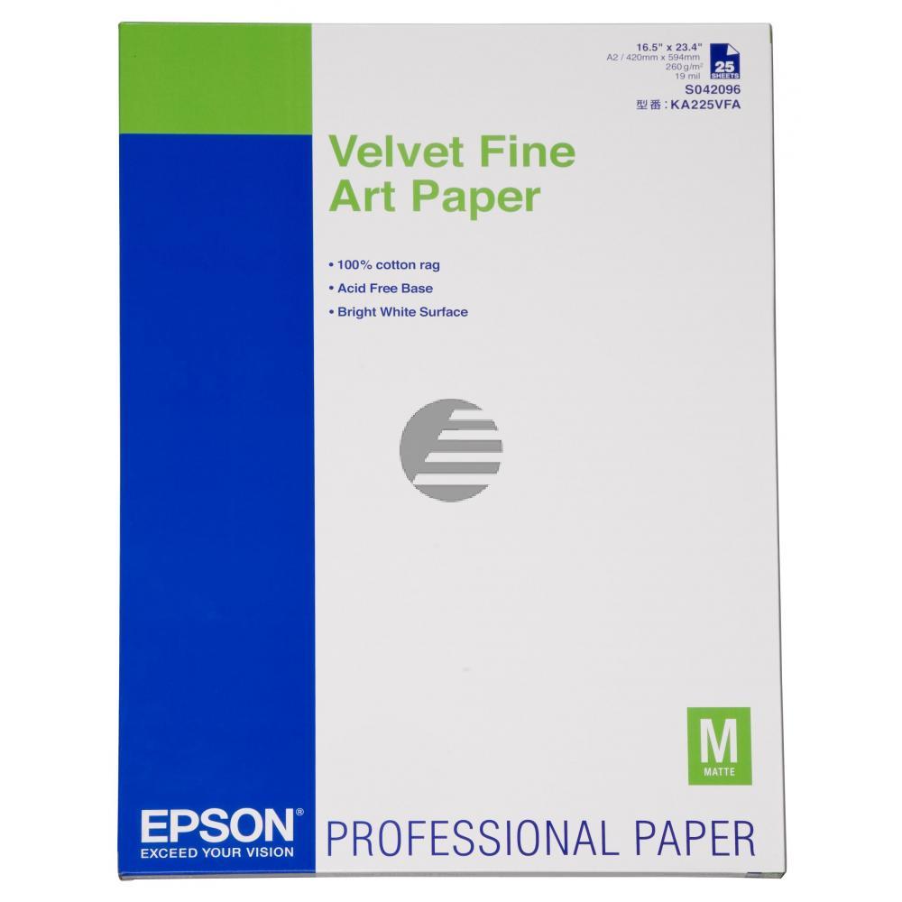 EPSON Art Papier A2 25 Blatt 260 g/qm velvet fine Art