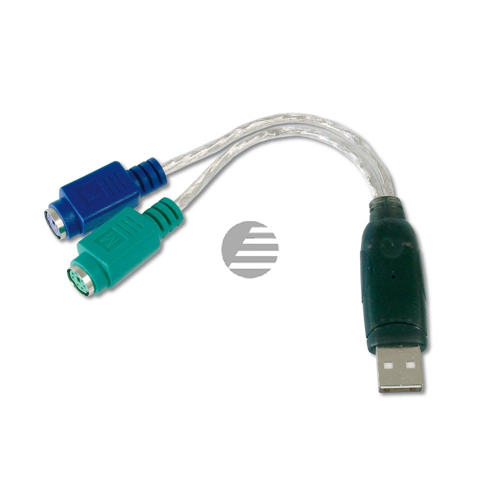 Kabel USB to PS2 Adapter USB Am to 2 x Mini-Din 6/F