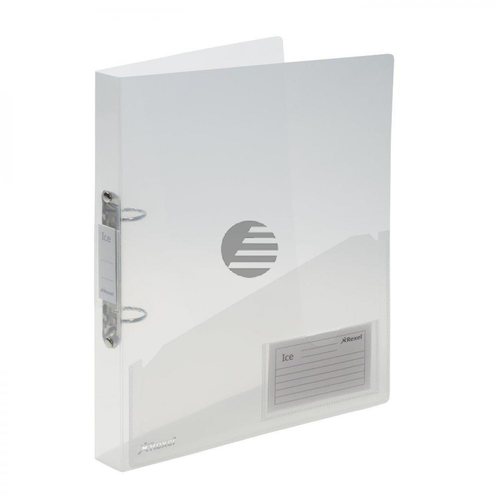 Acco Ringbücher Ice Serie A4 klar flexibel inkl. Innentasche 2-Ring