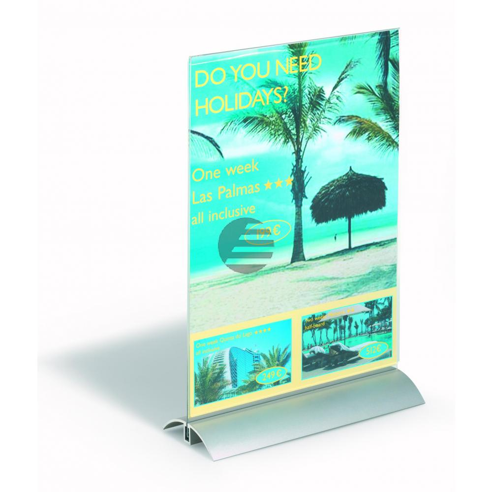 Durable Prospektständer A4 Presenter farblos 212 x 323 x 85 mm