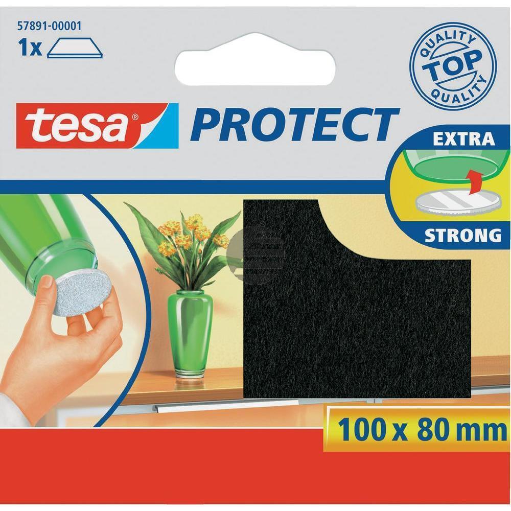 Tesa Protect Filzgleiter 100 x 80 mm braun